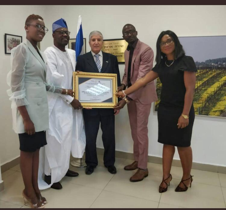 COURTSEY VISIT TO AMBASSADOR OF ISRAEL TO NIGERIA, HIS EXCELLENCY, AMBASSADOR SHIMON BEN-SHOSHAN